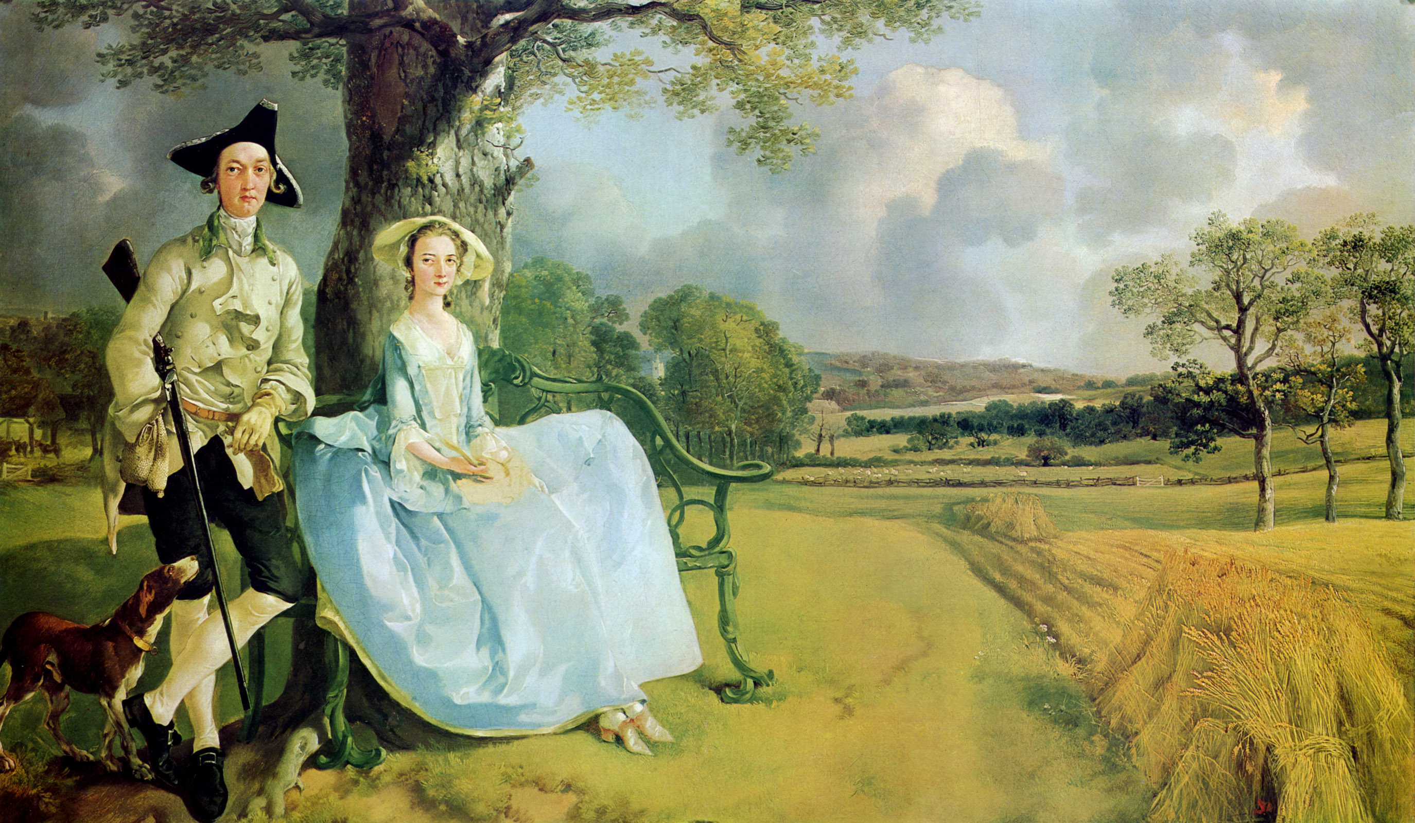 Thomas Gainsborough. Mr and Mrs Andrews. ca 1750.